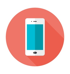 Mobile Flat Circle Icon vector image