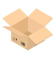 open postal box icon isometric style vector image