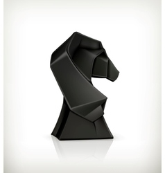 Paper horse origami vector image