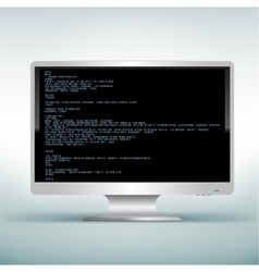 Pc white monitor code vector