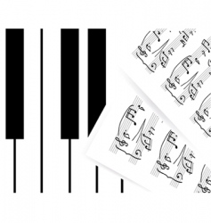 piano keys with note vector image