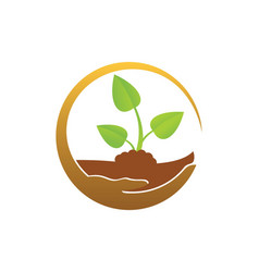 Plant green leaf organic save logo vector