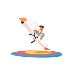 Professional karate man vector