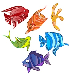 rainbow emotional fish vector image