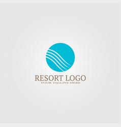 Resort logo template logo for business corporate vector