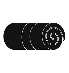 rolled towel icon simple style vector image