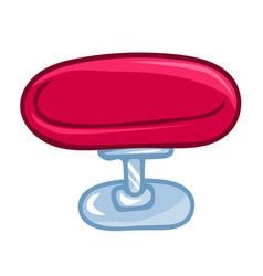 round chair isolated vector image