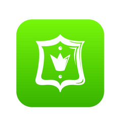 royal shield icon green vector image