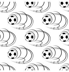 seamless pattern footballs or soccer balls vector image