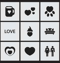 set of 9 editable amour icons includes symbols vector image