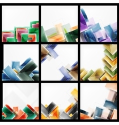 Set of arrow abstract geometric backgrounds vector