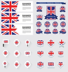 Set united kingdom vector