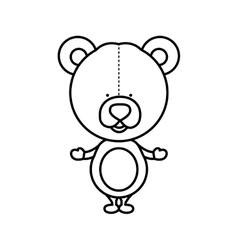 Silhouette teddy bear toy icon vector