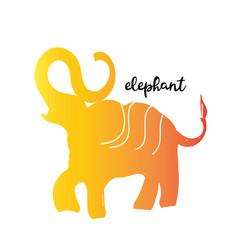 simple modern elephant logo elegant and stylish vector image