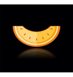 slice of melon vector image