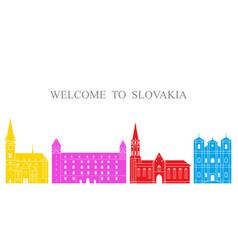 slovakia vector image