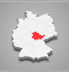State location within germany 3d map vector