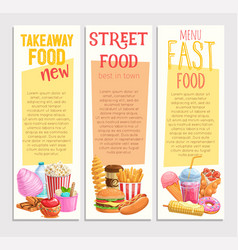 Street food banners vector