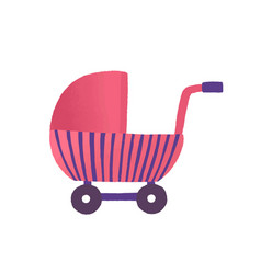toy buggy flat girlish vector image