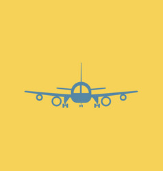 Travel airplane vector