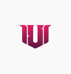 u gaming esports logo design template inspiration vector image