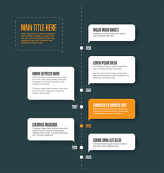 Vertical infographic timeline template vector