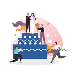 wedding cake concept for web banner vector image