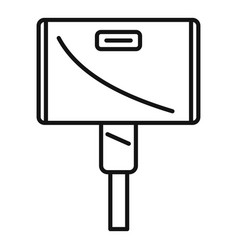 Wide adapter icon outline style vector