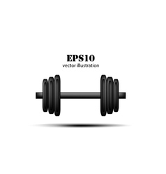 barbell background vector image vector image