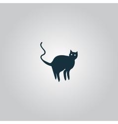 Evil Cat silhouette vector image
