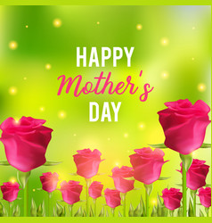 happy mothers day festive card vector image vector image