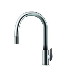 metal mixer tap faucet vector image vector image