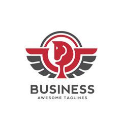 pegasus logo vector image vector image
