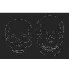 Chalk skull clip art vector image vector image