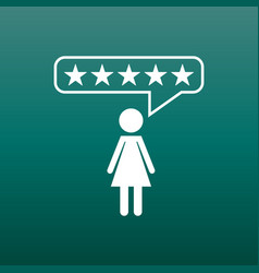 customer reviews rating user feedback concept vector image vector image