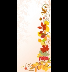 autumn floral background vector image vector image