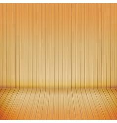 Brown wood floor with wood background empty room vector image