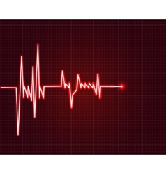 Electrowave heart beat cardiogram Pulse icon vector image