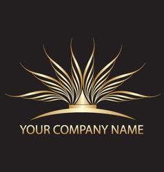 Gold lotus logo vector
