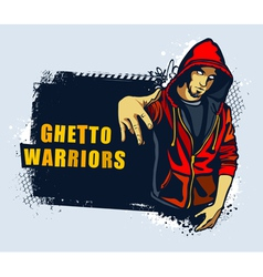 Young gangster vector image vector image