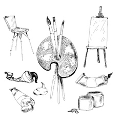Accessories for painting vector image vector image