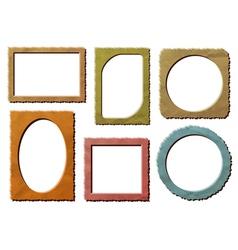 Retro photo frames set vector image