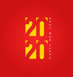 2020 calendar cover concept vector image