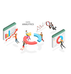 3d isometric flat concept business vector image