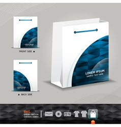 Abstract bag design corporate identity design vector