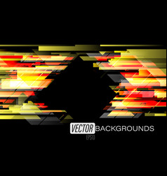 Abstract geometric colorful on a black scene vector