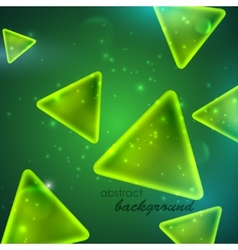 Abstract green background with triangle shapes vector