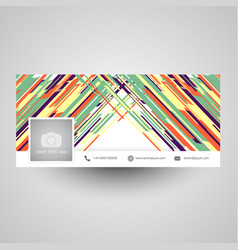 Abstract social media cover design vector