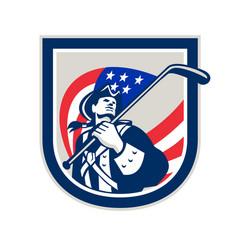 American patriot ice hockey shield vector