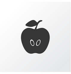 apple icon symbol premium quality isolated vector image